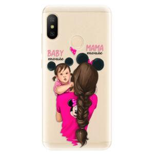 Odolné silikónové puzdro iSaprio - Mama Mouse Brunette and Girl - Xiaomi Mi A2 Lite