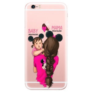 Odolné silikónové puzdro iSaprio - Mama Mouse Brunette and Girl - iPhone 6 Plus/6S Plus