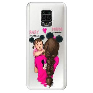 Odolné silikónové puzdro iSaprio - Mama Mouse Brunette and Girl - Xiaomi Redmi Note 9 Pro / Note 9S