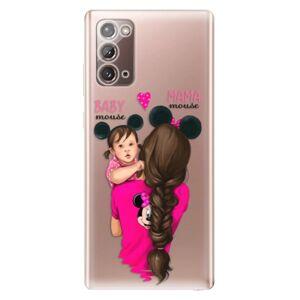 Odolné silikónové puzdro iSaprio - Mama Mouse Brunette and Girl - Samsung Galaxy Note 20
