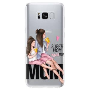 Odolné silikónové puzdro iSaprio - Milk Shake - Brunette - Samsung Galaxy S8