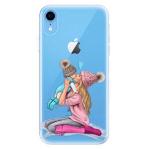 Odolné silikónové puzdro iSaprio - Kissing Mom - Blond and Boy - iPhone XR