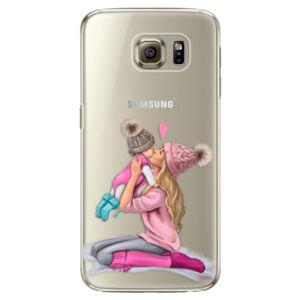 Plastové puzdro iSaprio - Kissing Mom - Blond and Girl - Samsung Galaxy S6