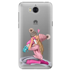 Plastové puzdro iSaprio - Kissing Mom - Blond and Girl - Huawei Y5 2017 / Y6 2017