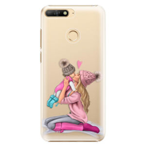 Plastové puzdro iSaprio - Kissing Mom - Blond and Girl - Huawei Y6 Prime 2018