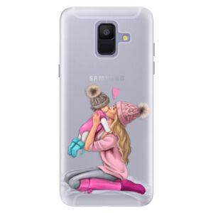 Silikónové puzdro iSaprio - Kissing Mom - Blond and Girl - Samsung Galaxy A6