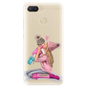 Odolné silikónové puzdro iSaprio - Kissing Mom - Blond and Girl - Xiaomi Redmi 6