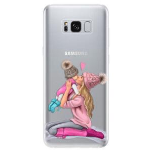 Odolné silikónové puzdro iSaprio - Kissing Mom - Blond and Girl - Samsung Galaxy S8
