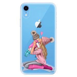 Odolné silikónové puzdro iSaprio - Kissing Mom - Blond and Girl - iPhone XR