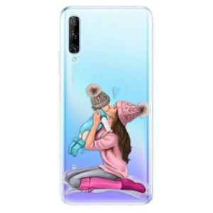 Odolné silikónové puzdro iSaprio - Kissing Mom - Brunette and Boy - Huawei P Smart Pro