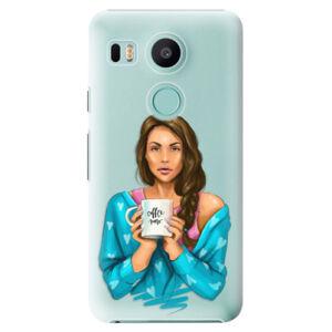 Plastové puzdro iSaprio - Coffe Now - Brunette - LG Nexus 5X