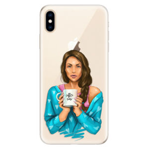 Silikónové puzdro iSaprio - Coffe Now - Brunette - iPhone XS Max