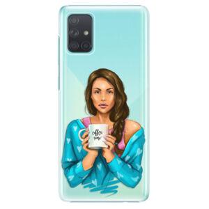 Plastové puzdro iSaprio - Coffe Now - Brunette - Samsung Galaxy A71