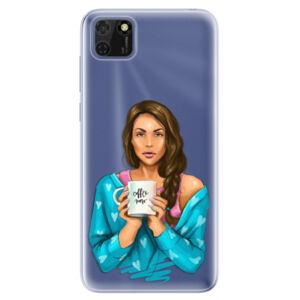 Odolné silikónové puzdro iSaprio - Coffe Now - Brunette - Huawei Y5p