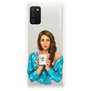 Odolné silikónové puzdro iSaprio - Coffe Now - Brunette - Samsung Galaxy A02s