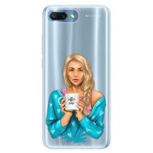 Silikónové puzdro iSaprio - Coffe Now - Blond - Huawei Honor 10
