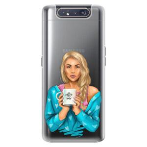 Plastové puzdro iSaprio - Coffe Now - Blond - Samsung Galaxy A80