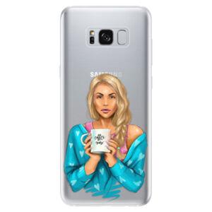 Odolné silikónové puzdro iSaprio - Coffe Now - Blond - Samsung Galaxy S8