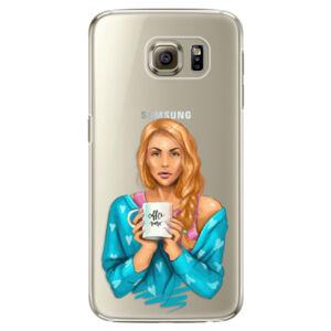 Plastové puzdro iSaprio - Coffe Now - Redhead - Samsung Galaxy S6 Edge Plus