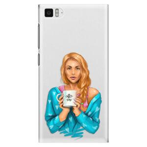 Plastové puzdro iSaprio - Coffe Now - Redhead - Xiaomi Mi3