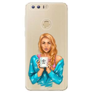 Plastové puzdro iSaprio - Coffe Now - Redhead - Huawei Honor 8