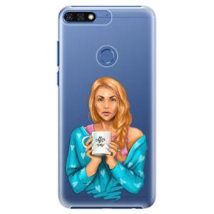 Plastové puzdro iSaprio - Coffe Now - Redhead - Huawei Honor 7C