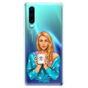 Odolné silikonové pouzdro iSaprio - Coffe Now - Redhead - Huawei P30