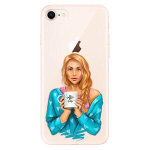 Odolné silikónové puzdro iSaprio - Coffe Now - Redhead - iPhone 8