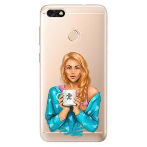 Odolné silikónové puzdro iSaprio - Coffe Now - Redhead - Huawei P9 Lite Mini