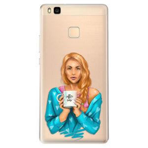 Odolné silikónové puzdro iSaprio - Coffe Now - Redhead - Huawei Ascend P9 Lite