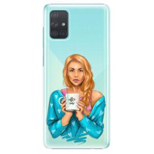 Plastové puzdro iSaprio - Coffe Now - Redhead - Samsung Galaxy A71