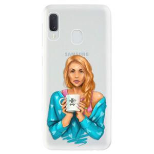 Odolné silikónové puzdro iSaprio - Coffe Now - Redhead - Samsung Galaxy A20e