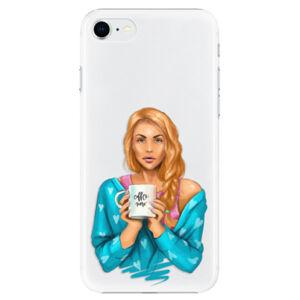 Plastové puzdro iSaprio - Coffe Now - Redhead - iPhone SE 2020
