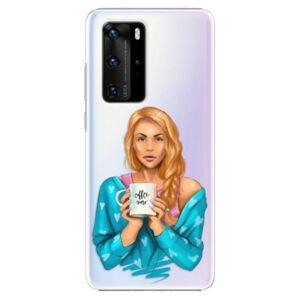 Plastové puzdro iSaprio - Coffe Now - Redhead - Huawei P40 Pro