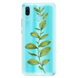 Odolné silikónové puzdro iSaprio - Green Plant 01 - Huawei Nova 3