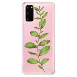 Odolné silikónové puzdro iSaprio - Green Plant 01 - Samsung Galaxy S20