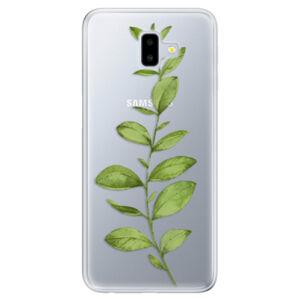 Odolné silikónové puzdro iSaprio - Green Plant 01 - Samsung Galaxy J6+
