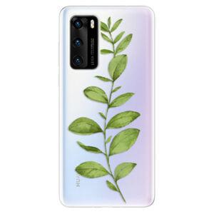 Odolné silikónové puzdro iSaprio - Green Plant 01 - Huawei P40