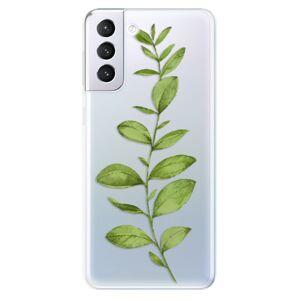 Odolné silikónové puzdro iSaprio - Green Plant 01 - Samsung Galaxy S21+