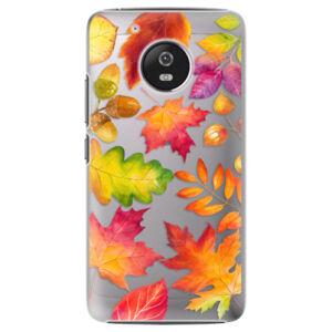 Plastové puzdro iSaprio - Autumn Leaves 01 - Lenovo Moto G5