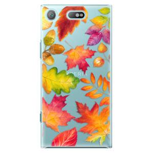 Plastové puzdro iSaprio - Autumn Leaves 01 - Sony Xperia XZ1 Compact
