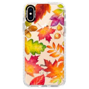 Silikónové púzdro Bumper iSaprio - Autumn Leaves 01 - iPhone XS