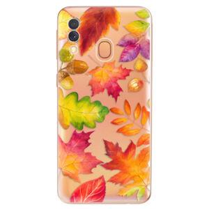 Odolné silikónové puzdro iSaprio - Autumn Leaves 01 - Samsung Galaxy A40