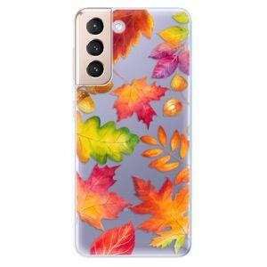 Odolné silikónové puzdro iSaprio - Autumn Leaves 01 - Samsung Galaxy S21