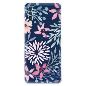 Odolné silikónové puzdro iSaprio - Leaves on Blue - Samsung Galaxy A50