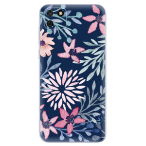 Odolné silikónové puzdro iSaprio - Leaves on Blue - Huawei Y5p