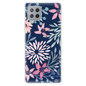 Odolné silikónové puzdro iSaprio - Leaves on Blue - Samsung Galaxy A42