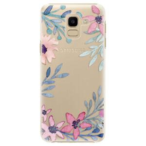 Plastové puzdro iSaprio - Leaves and Flowers - Samsung Galaxy J6