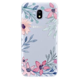 Silikónové puzdro iSaprio - Leaves and Flowers - Samsung Galaxy J3 2017