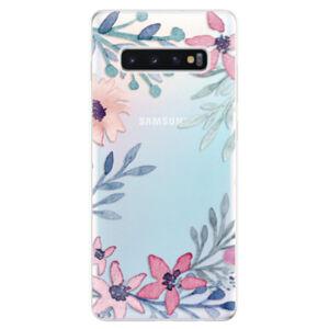Odolné silikonové pouzdro iSaprio - Leaves and Flowers - Samsung Galaxy S10+